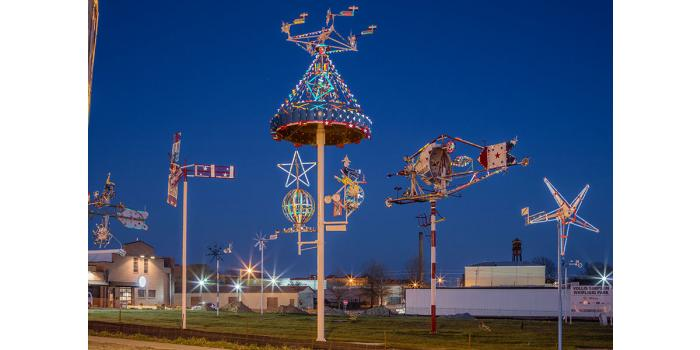 Vollis Simpson Whirligig Park featured in Relocated Sculptures and Art Enviroments, photo by Fred Scuton