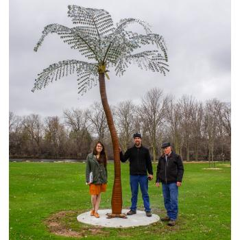 Installation of The Palm Tree by the City of Green Bay Public Arts Commission