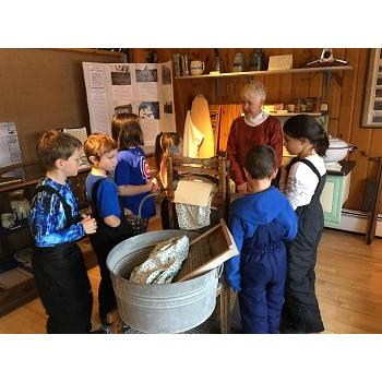 Eagle River Historical Society,school groups excited to learn in the Homestead area.