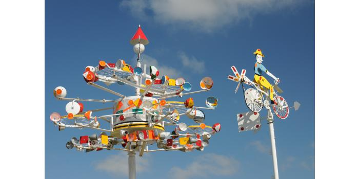 Vollis Simpson Whirligig Park featured in Relocated Sculptures and Art Enviroments