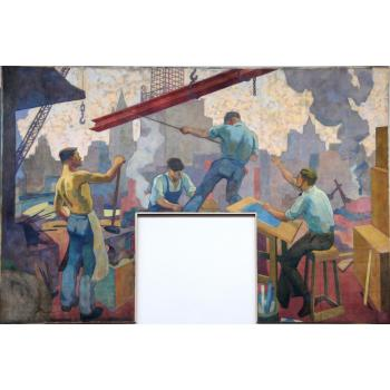 Hansen Workers Mural on display at MSOE